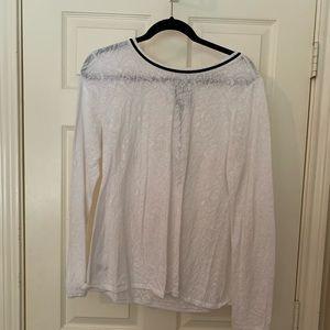 Loft size L white lace blouse